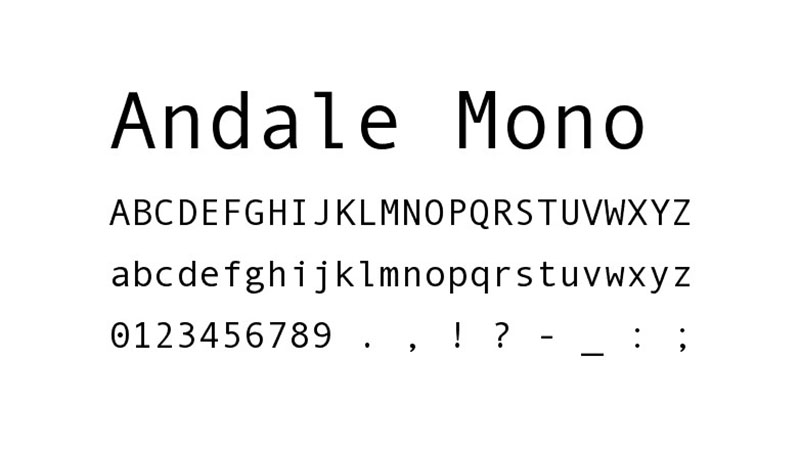 Andale Mono Font Family Download