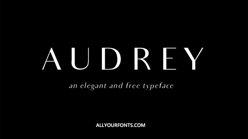Audrey Font Family Free Download