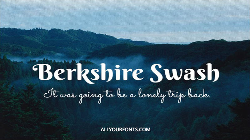 Berkshire Swash Font Family Free Download