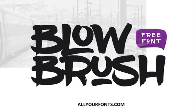 Blow Brush Font Family Free Download