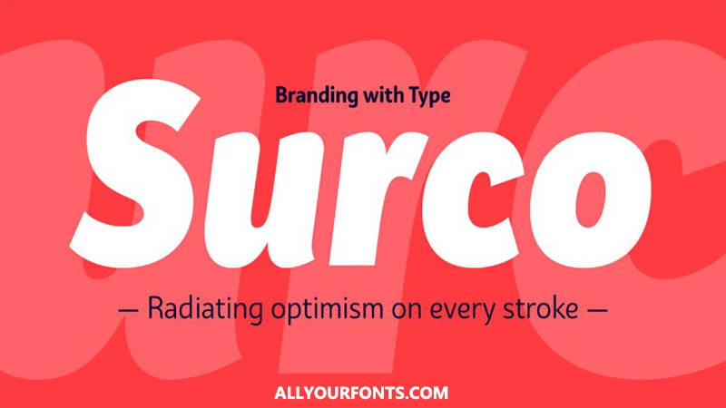 Bw Surco Font Family Free Download