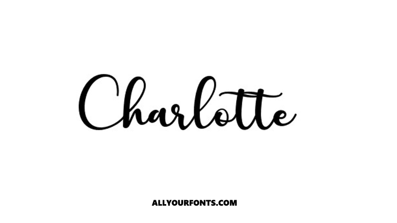 Charlotte Font Family Free Download