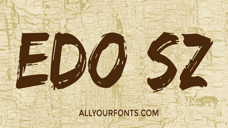 Edo SZ Font Free Download - All Your Fonts