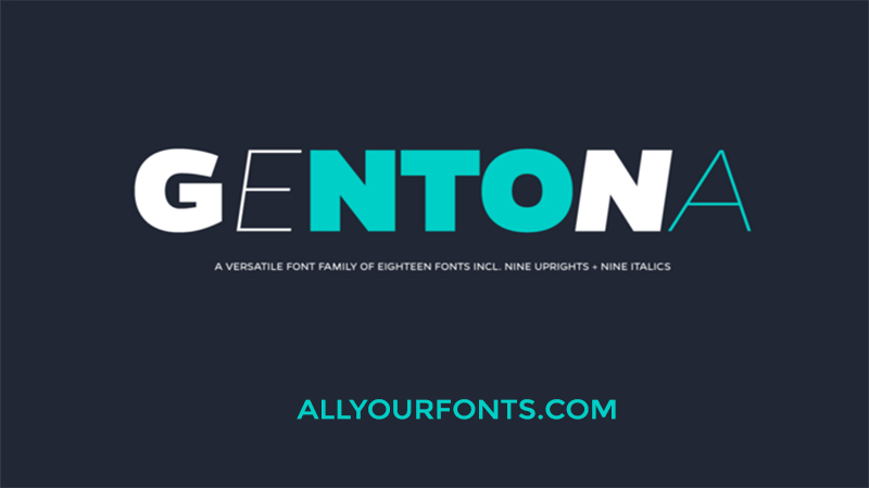 Gentona Font Family Free Download - All Your Fonts