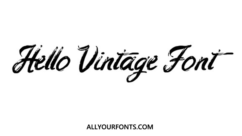 Hello Vintage Font Family Free Download