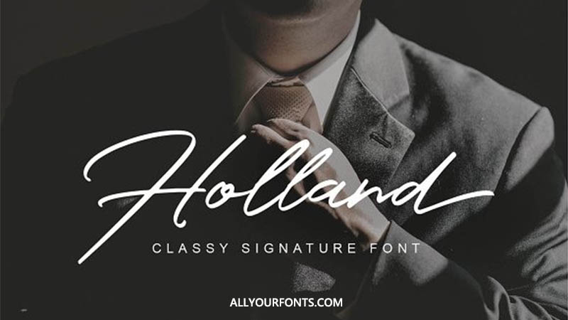 Holland Font Free Download