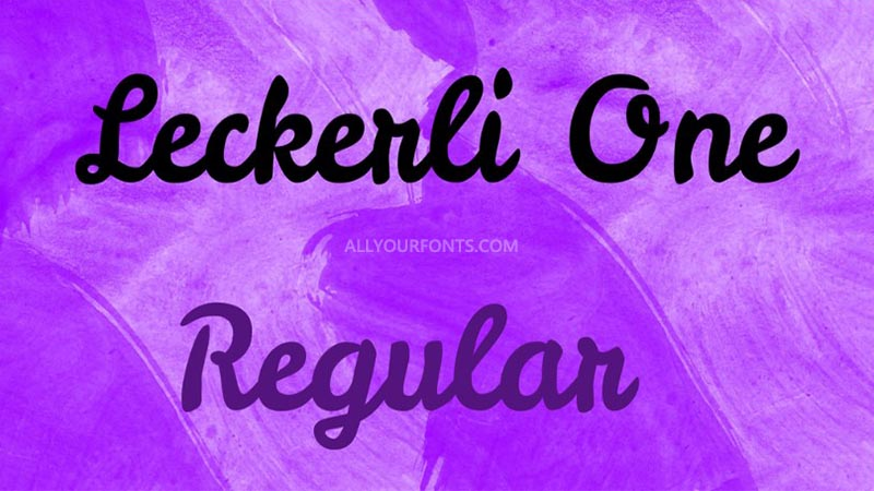 Leckerli One Font Family Free Download