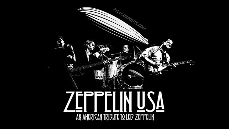 Led Zeppelin Font Family Free Download