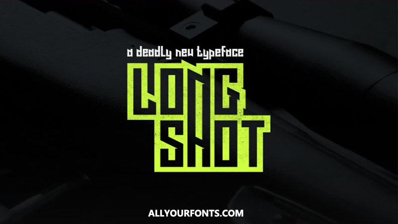 Long Shot Font Family Free Download