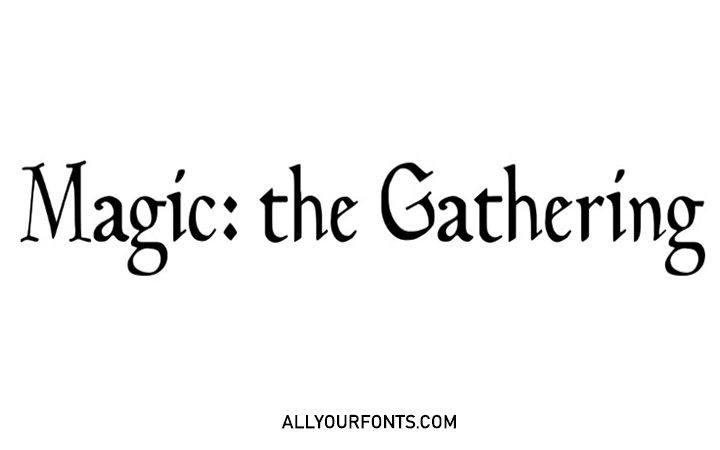 Magic The Gathering Font Family Free Download