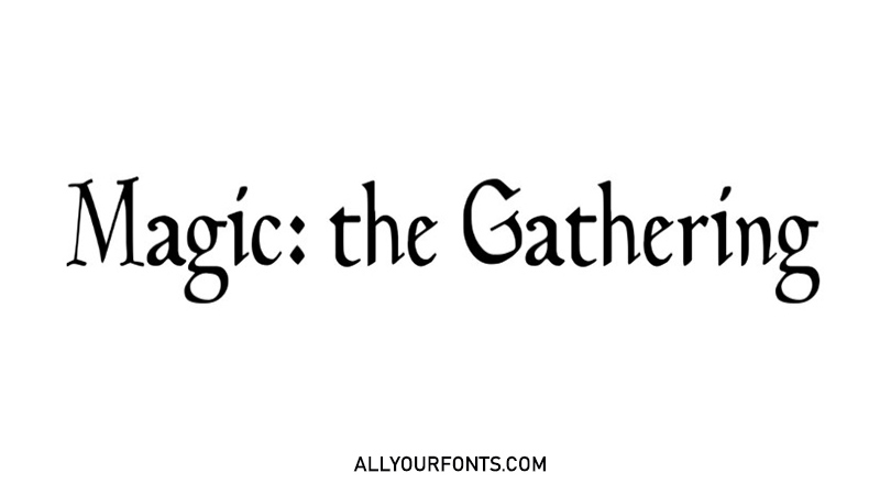 Magic The Gathering Font Download