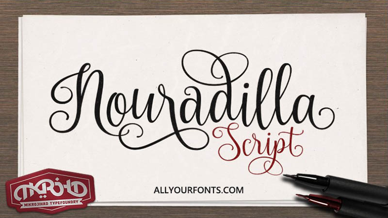 Nouradilla Font Family Free Download