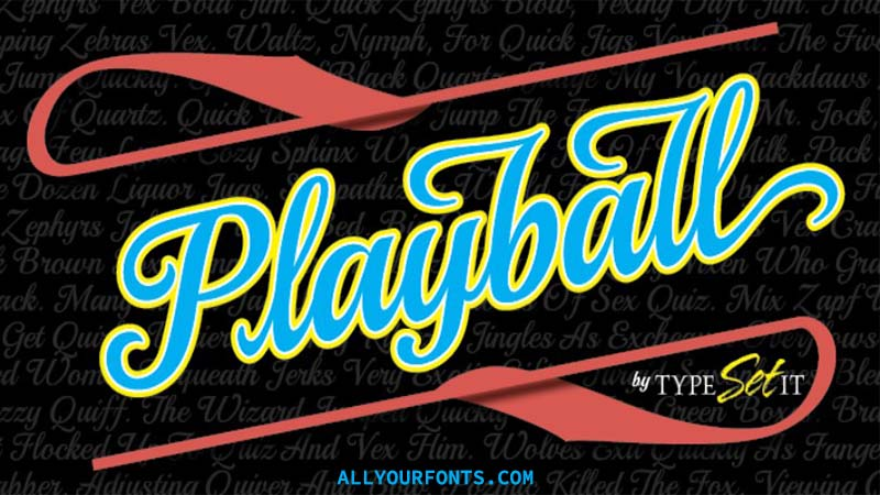 Playball Font Free Download