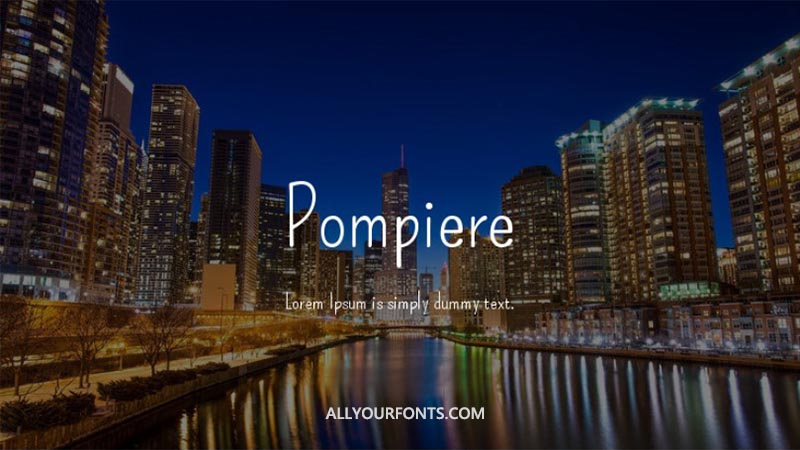 Pompiere Font Family Free Download