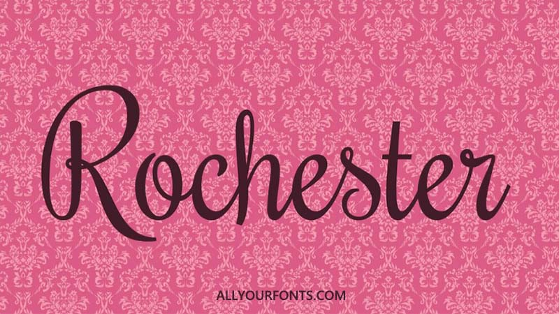 Rochester Font Family Free Download
