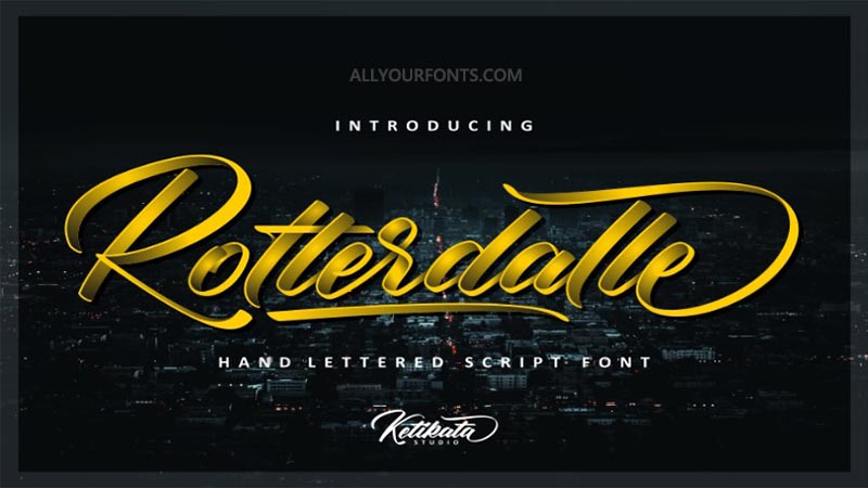 Rotterdalle Font Family Free Download
