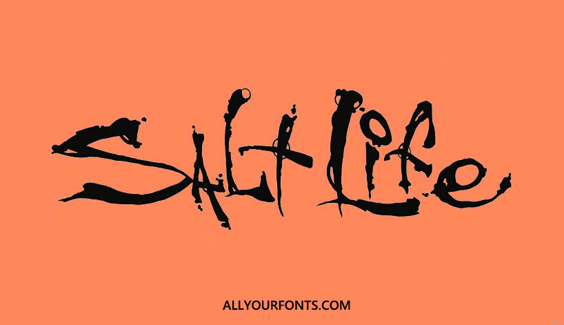 Salt Life Font Free Download - All Your Fonts