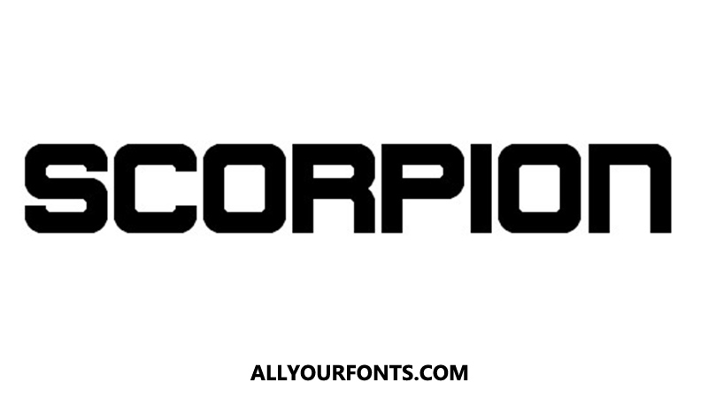 Scorpion Font Family Free Download