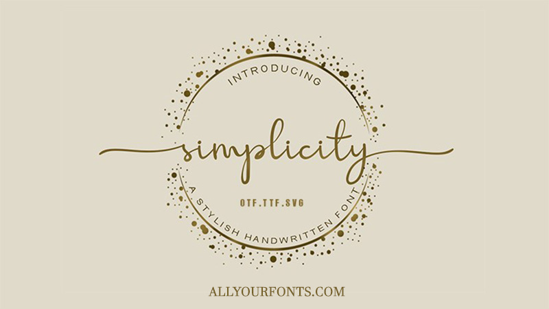 Simplicity Font Family Free Download
