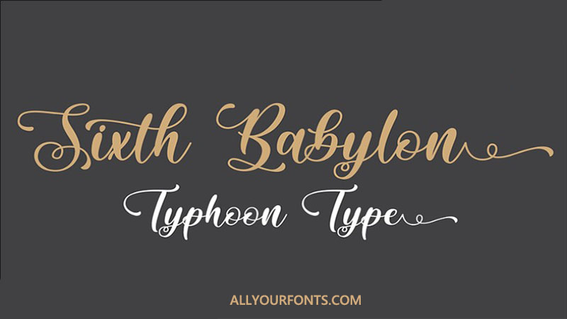 Sixth Babylon Font Family Free Download