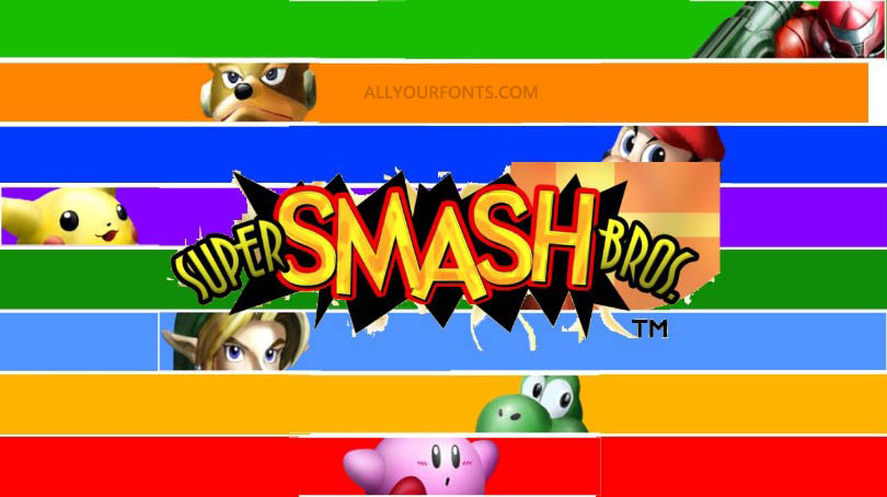 Smash Bros Font Free Download