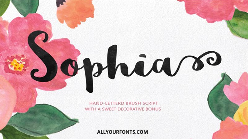 Sophia Font Family Free Download