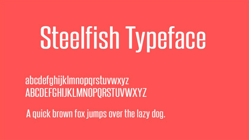 Steelfish Font Family Download