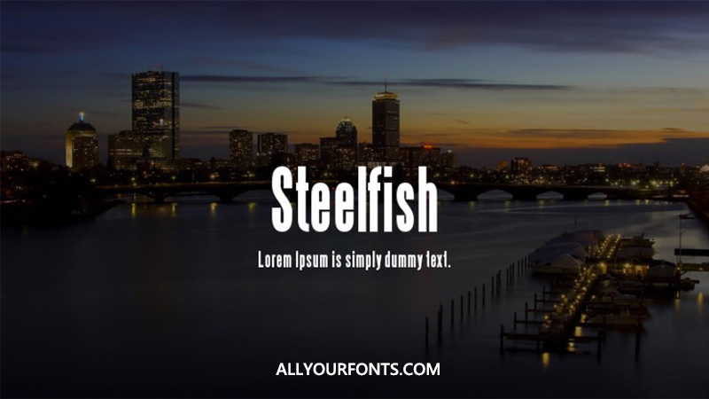 Steelfish Font Family Free Download