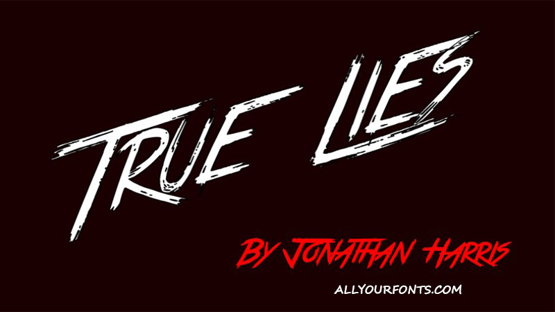 True Lies Font Family Free Download