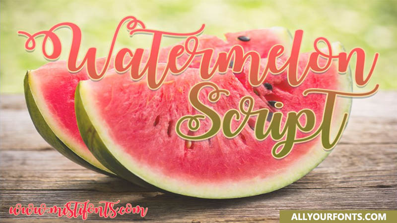 Watermelon Script Font Family Free Download