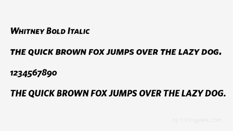 Whitney Font Family Download