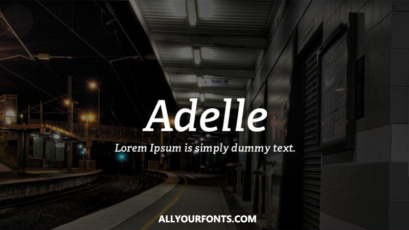 Adelle Font Family Free Download