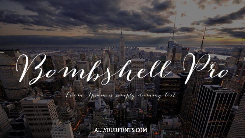 Bombshell Pro Font Family Free Download