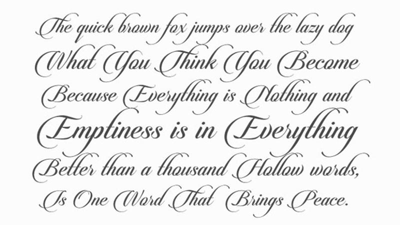 Candle Script Font Family Download