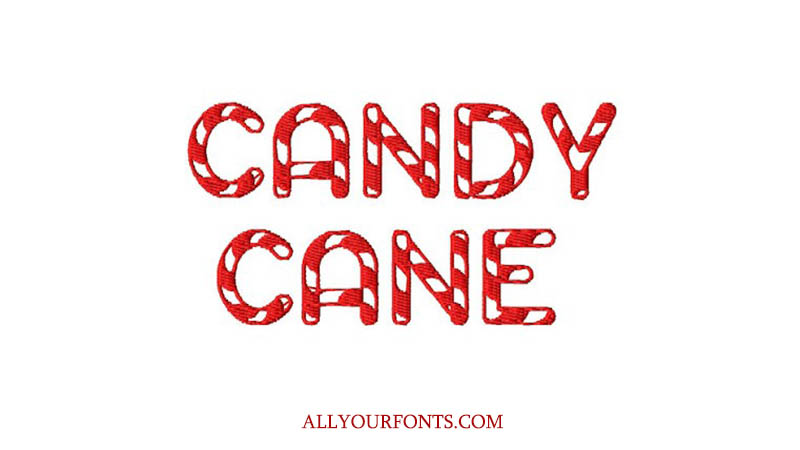 Candy Cane Font Family Free Download