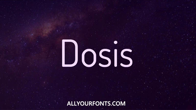 Dosis Font Family Free Download
