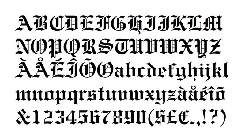 Engravers Old English Font Family Download
