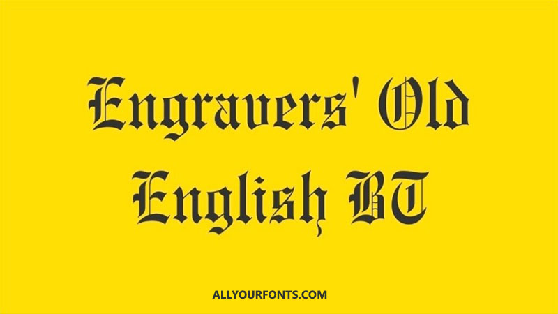 Engravers Old English Font Download