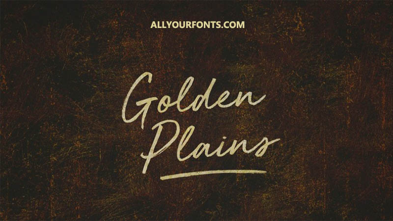 Golden Plains Font Family Free Download