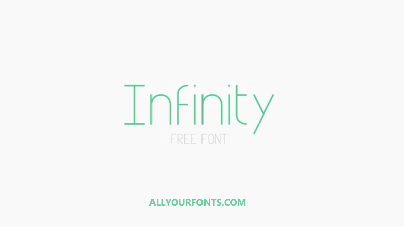 Infinity Font Family Free Download