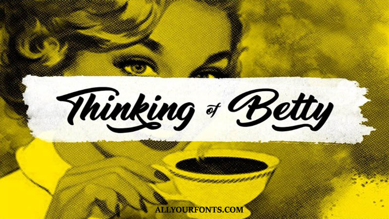 Thinking Of Betty Font Family Free Download