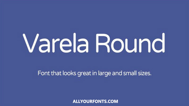 Varela Round Font Family Free Download