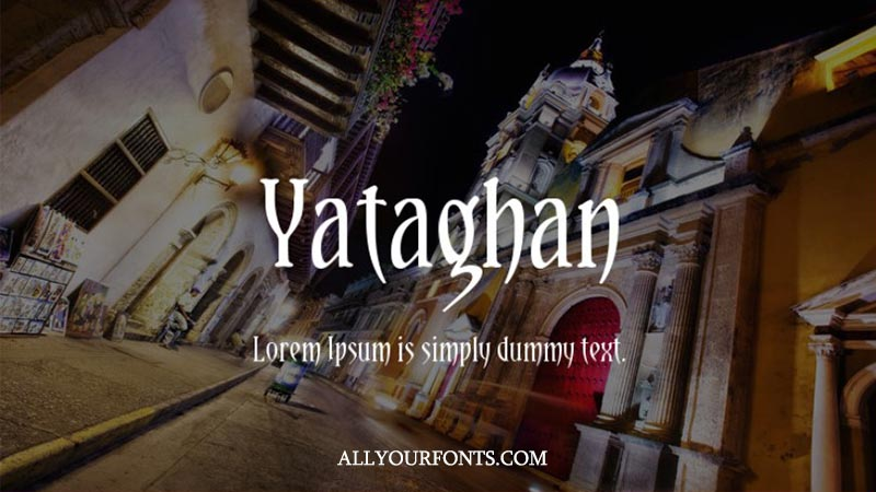 Yataghan Font Family Free Download