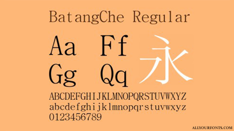 Batangche Font Family Free Download