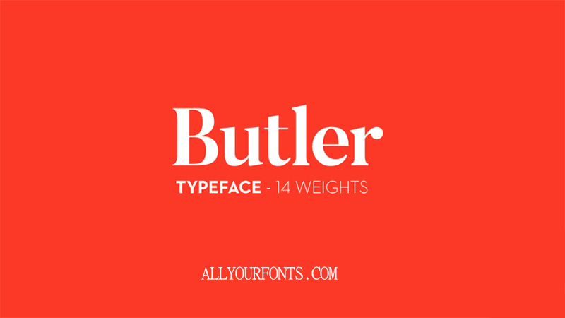 Butler Font Family Free Download