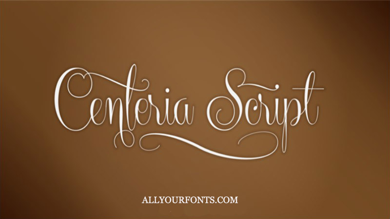 Centeria Font Family Free Download