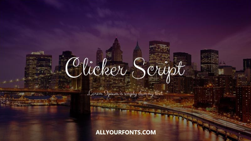 Clicker Script Font Family Free Download