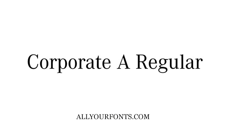 Corporate A Font Family Free Download