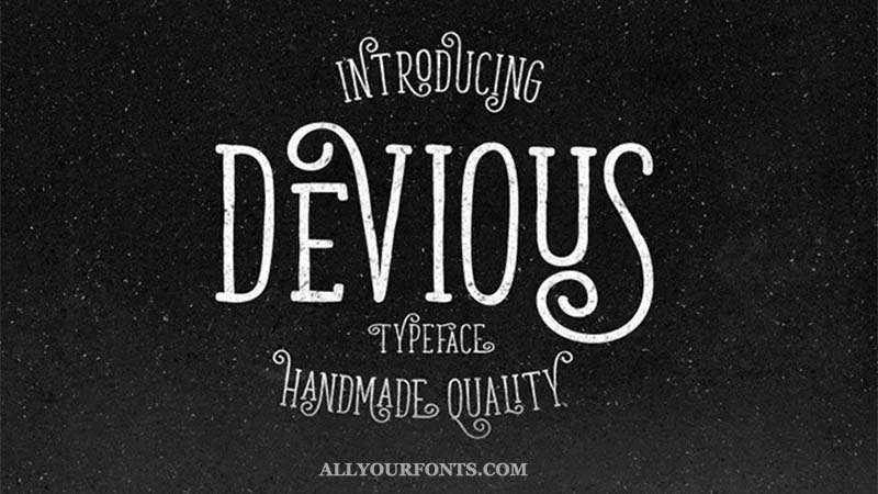 Devious Font Family Free Download