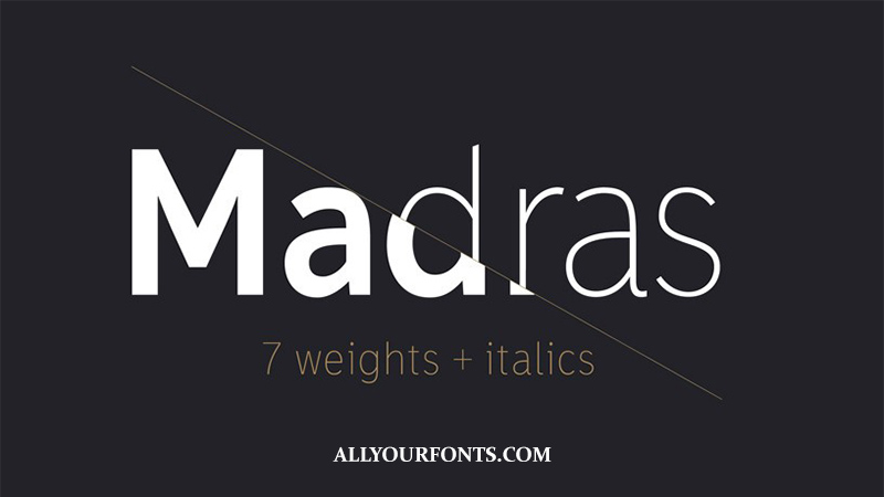 Madras Font Family Free Download